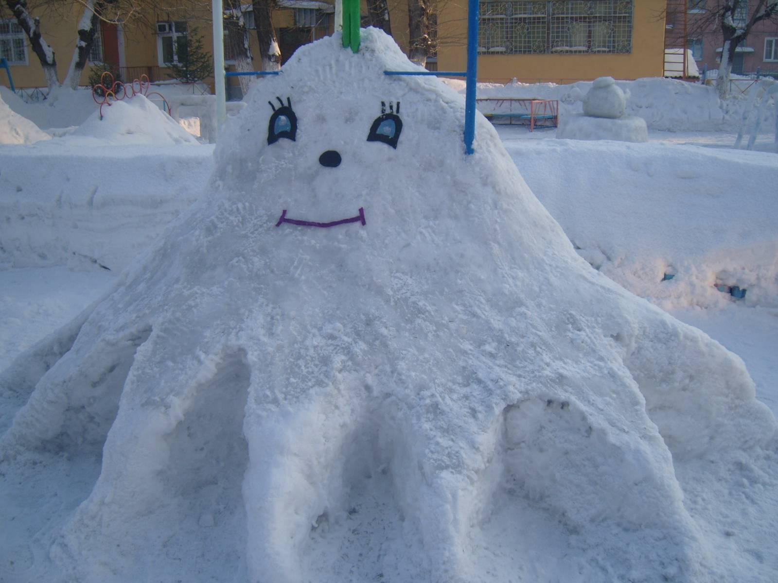 Картинка снежных построек